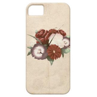 Flores coloridos do vintage retro capas iPhone 5