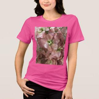 Flores conservadas em estoque cor-de-rosa camiseta