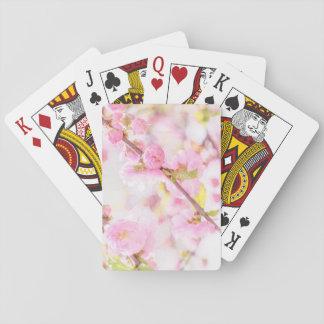 Flores cor-de-rosa de sakura - flor de cerejeira cartas de baralho