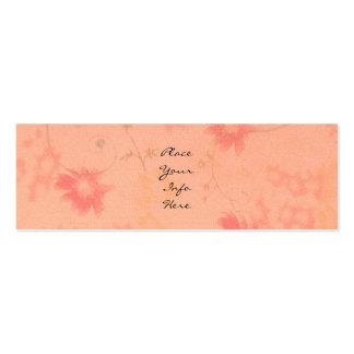 Flores cor-de-rosa desvanecidas cartão de visita skinny