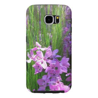Flores cor-de-rosa do verão do Phlox e da grama Capas Samsung Galaxy S6