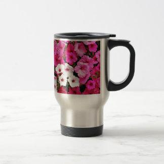 Flores cor-de-rosa e brancas do petúnia