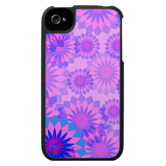 Flores cor-de-rosa femininos abstratas modernas do proteção para iPhone 4