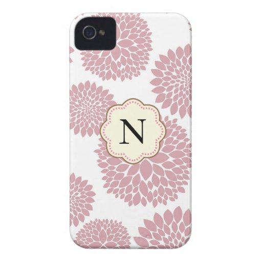 Flores cor-de-rosa femininos capas iPhone 4