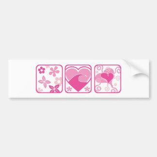Flores & corações: Arte do vetor: Adesivo Para Carro