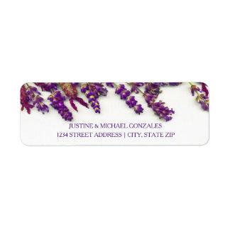 Flores da lavanda - etiquetas de endereço etiqueta endereço de retorno