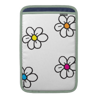 Flores da margarida bolsas para MacBook air