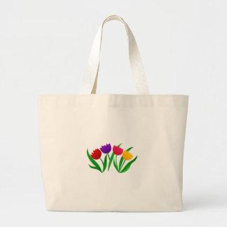 Flores da tulipa bolsa tote grande