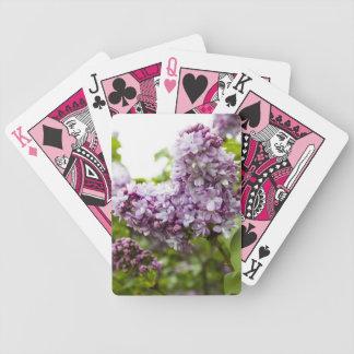 Flores dadas forma coração do Lilac Baralhos De Pôquer
