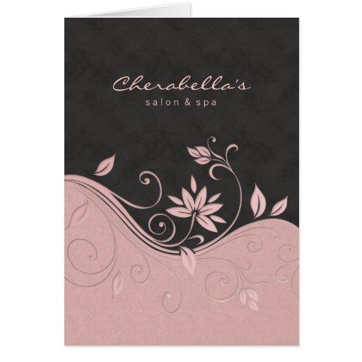 Flores das cinzas do rosa do cartão do folheto do