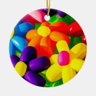 Flores de balão do brinquedo ornamento de cerâmica redondo