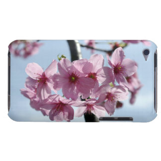 Flores de cerejeira cor-de-rosa e céu luz-azul capas iPod touch Case-Mate