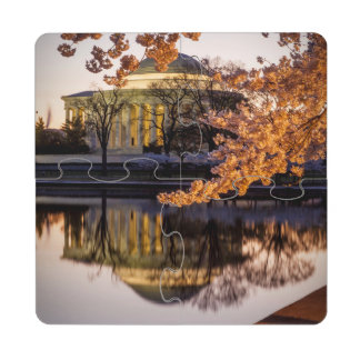 Flores de cerejeira e o memorial 2 de Jefferson Porta Copo Quebra-cabeça