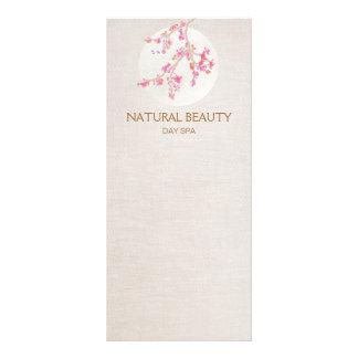 Flores de cerejeira naturais dos termas da beleza 10.16 x 22.86cm panfleto