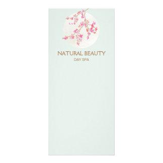 Flores de cerejeira naturais dos termas da beleza panfleto personalizado