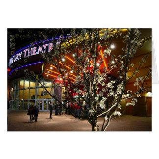 Flores de cerejeira no cinema cartão comemorativo