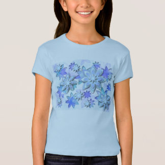 Flores de lótus do abstrato da mandala dos t-shirt