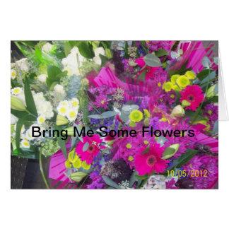 Flores de meu coração cartão comemorativo