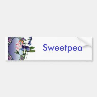 Flores de Sweetpea Adesivo Para Carro