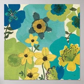 Flores decorativas do jardim poster