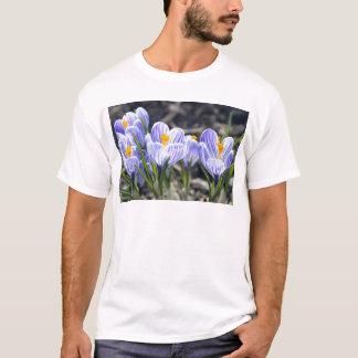 Flores do açafrão t-shirts