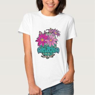 Flores do cacto da arizona tshirts