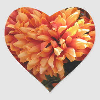 Flores do coração adesivo coração