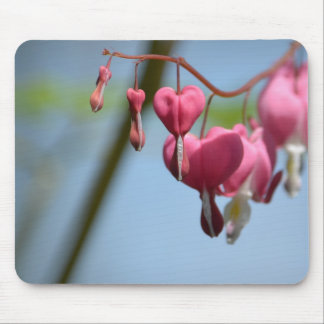 Flores do coração de sangramento mouse pads
