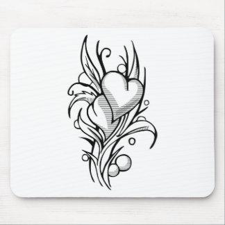 Flores do coração mousepad