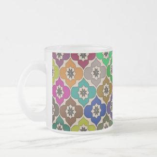 Flores do divertimento - caneca de café vidro jateado