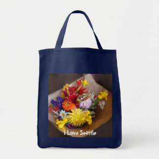 Flores do mercado bolsa tote