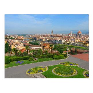 Flores do primavera em Florença Cartão Postal