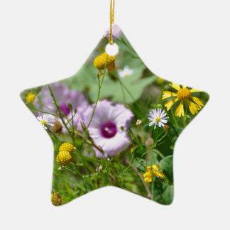 Flores do primavera ornamento de cerâmica estrela