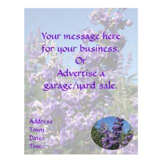 Flores do roxo da árvore pura flyer 21.59 x 27.94cm