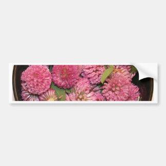 Flores do trevo vermelho adesivo para carro