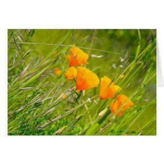 Flores do vinhedo cartão comemorativo