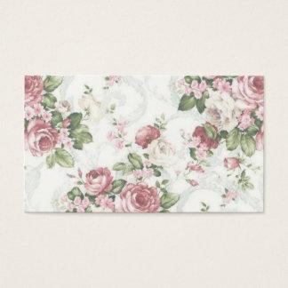 Flores do vintage cartão de visitas