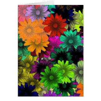 Flores do vitral cartão de nota