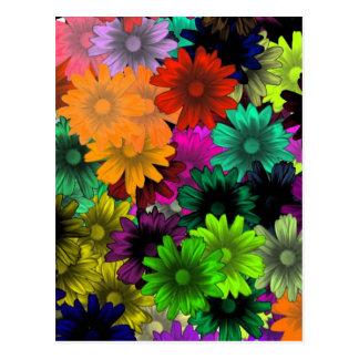 Flores do vitral cartão postal