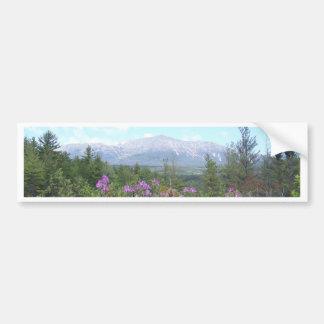 Flores e a montanha adesivo para carro