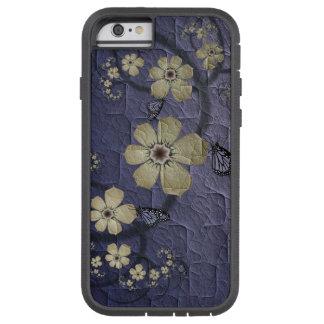 Flores e borboletas capa tough xtreme para iPhone 6