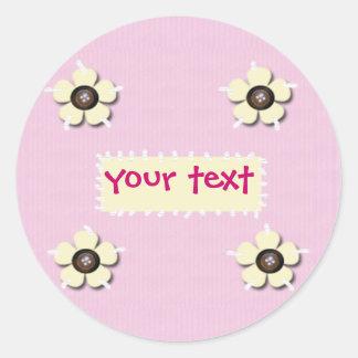 flores e botões adesivo