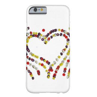 Flores e cobrir do telefone dos corações capa barely there para iPhone 6
