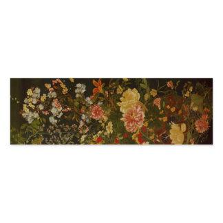 Flores e insetos japoneses do vintage cartão de visita skinny