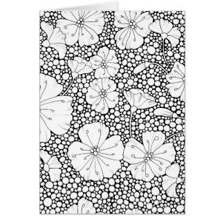 Flores e seixos cartão