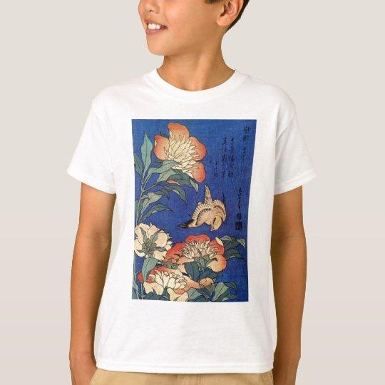 Flores e um pássaro camiseta
