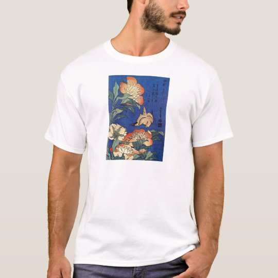 Flores e um pássaro tshirt