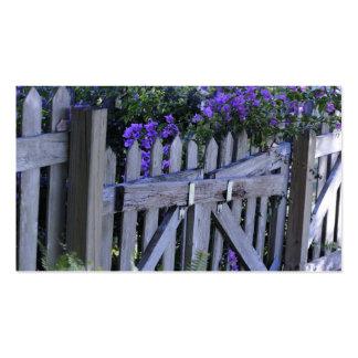 flores em uma cerca modelo cartoes de visitas