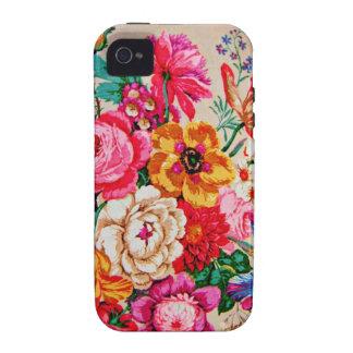 Flores femininos do primavera do vintage capas para iPhone 4/4S