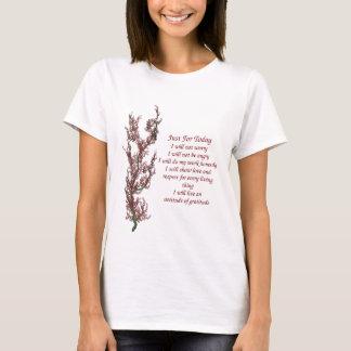 Flores inspiradas apenas para citações de hoje tshirts